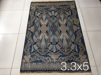 Free shipping 3.3'X5' 230 Line Handmade Silk Oriental Persian Rug hand Knotted silk carpet for home decoration