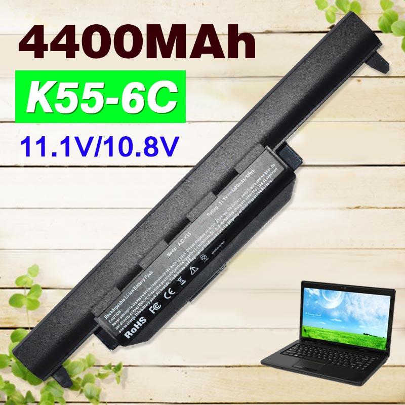 ApexWay 11.1v X55a Battery For ASUS A32-K55 a32 k55 Series A33-K55 A41-K55 A75A A95 A55D Series K45D K45VM A45A A45DE X75V 6cell laptop battery a32 k55 a33 k55 a41 k55 for asus x55u x55v x55vd x75 x75a x75v x75vd k55