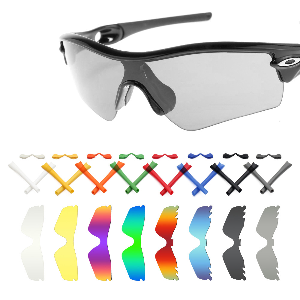 Mryok Replacement Lenses and Black Rubber Kit for-Oakley Radar Path Sunglasses - Multiple Options