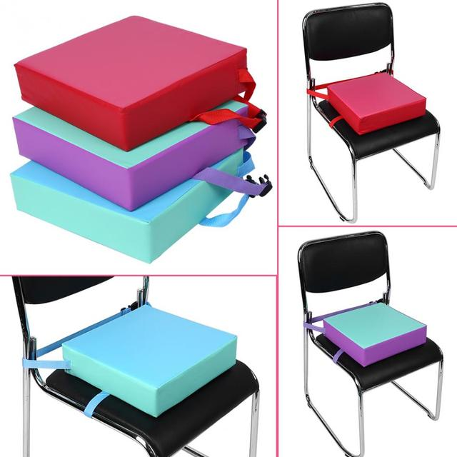 31.5*31.5*8cm Adjustable Baby Booster Cushion Seat Kids Dining Chair Cushion Children Highchair Seat Pad Mat With Buckle Straps