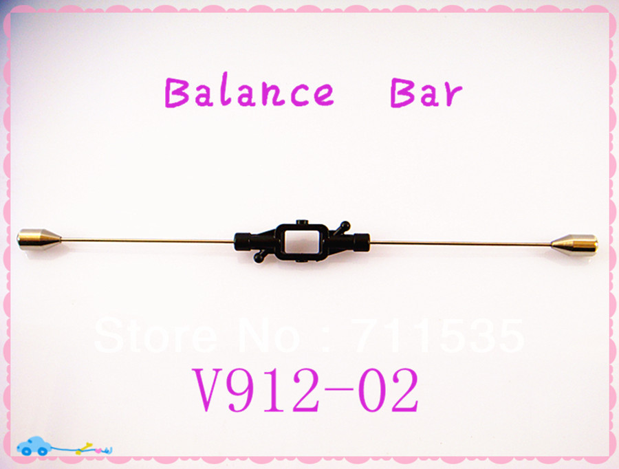 Free Shipping V912-02 Balance Bar Fly Bar Spare Parts For WLToys V912 4CH Single Propeller Remote Control RC Helicopters remote control charging helicopter