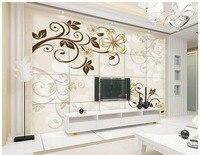 3d fondo de pantalla personalizado 3d murales de papel tapiz mural flor de la vid de la flor Amarilla de la moda moderna TV fondo de la pared de papel decoración del hogar