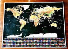 все цены на Big size world scratch wall map Deluxe Edition Scratch World Map With Scratch Off Layer Visual Travel Journal for travel maps A онлайн