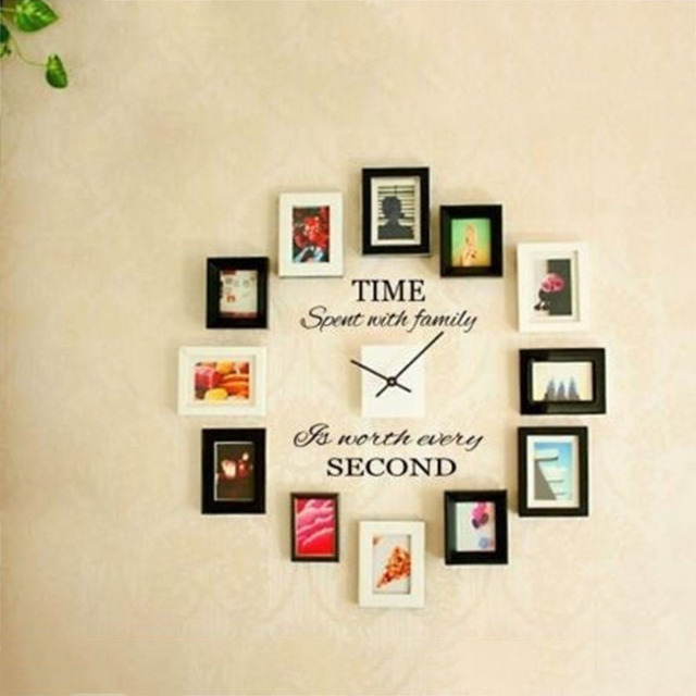 2017 Fashion TIME SPENT WITH FAMILY Wall Art Decal Quote wall stickers DIY Murals home decor  sc 1 st  AliExpress.com & 2017 Fashion TIME SPENT WITH FAMILY Wall Art Decal Quote wall ...