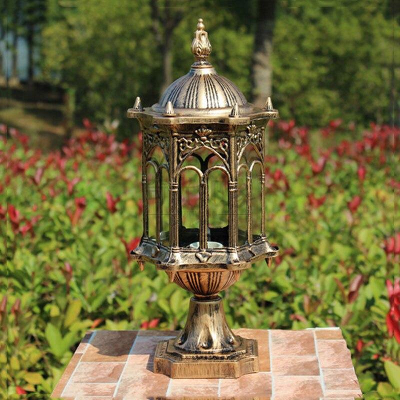 Outdoor courtyard garden light waterproof column lamp lighting fixture head lamp outside fence lighting doorway lamp