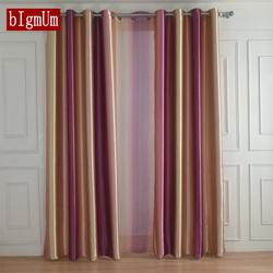 European Style Rainbow Color Curtains for Living Dining Room Bedroom Tulle Curtains and High Shading Curtains Window Treatments