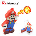 Uncle Mario USB flash drive USB 2.0 catoon u disk real capacity USB Flash Drive tiny Christmas Gift 4GB 8GB 16GB 32GB with chain