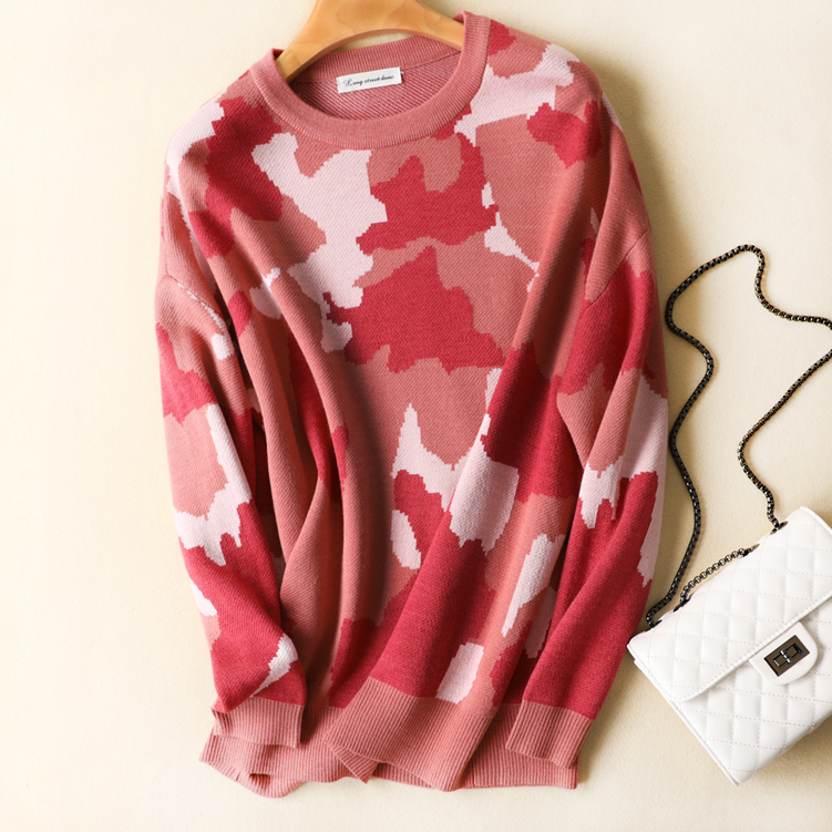 garder voulez col femmes rose rond camouflage tricot au chaud galement belle qualit. Black Bedroom Furniture Sets. Home Design Ideas
