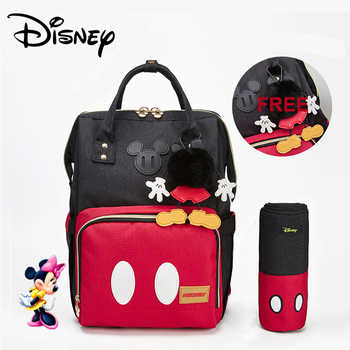 Disney Minnie Mickey Classic Red Diaper Bags 2PCS/SET Mummy Maternity Backpack Nappy Bag Large Capacity Baby Bag Travel 3D Doll - DISCOUNT ITEM  37% OFF All Category