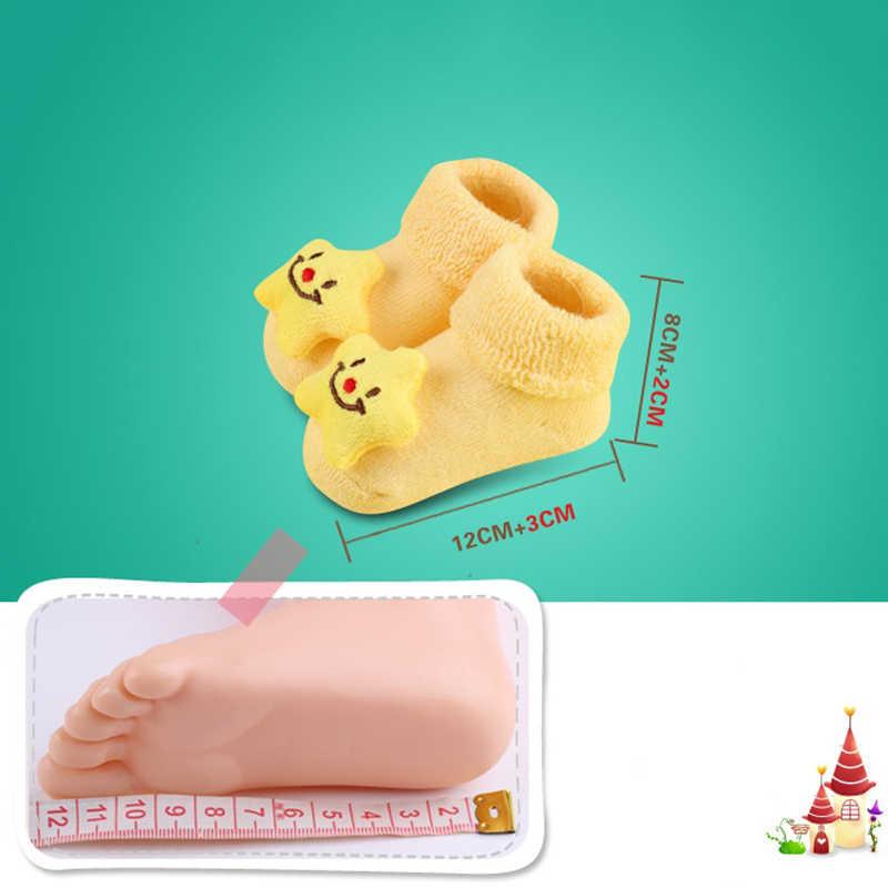 Новые носки для малышей с героями мультфильмов для новорожденных мальчиков и девочек Нескользящие носки тапочки Детская одежда спортивный костюм