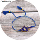 Go2boho Dropshipping Friendship Bracelet Blue Hamsa Hand MIYUKI Seed Bead Evil Eye Bracelets Tassel Jewelry Women Her Best Gift