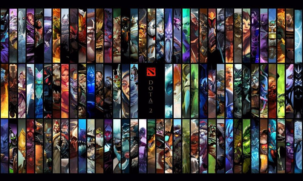 Buy hot dota 2 poster all hero art wall for Buy art posters online