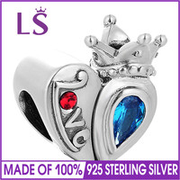 LS Real 925 Silver Charm,Mixed Enamel Beads Fit Original Bracelets Pulseira Encantos Beads DIY Jewelry