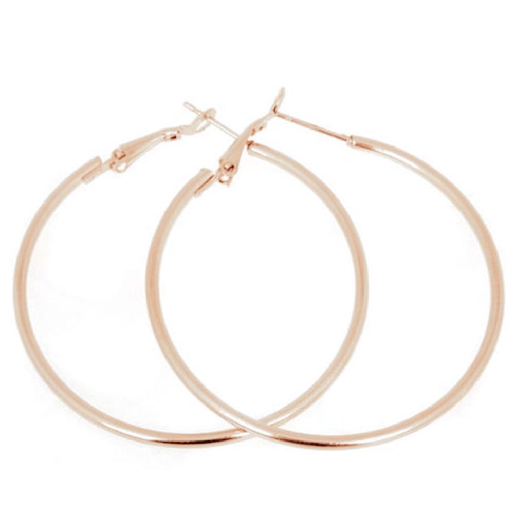 1Pair 50MM Big Smooth Circle Earrings Hoop Earrings Basketball Brincos Celebrity Brand Loop Earrings for Women Jewelry Hot Sale