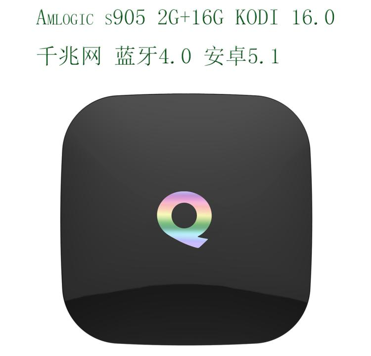 ФОТО Q BOX Android BOX 2 G 16 Gb S905 Bluetooth Kodi Gigabit Network Double Wifi Network Player smart tv box android tv box