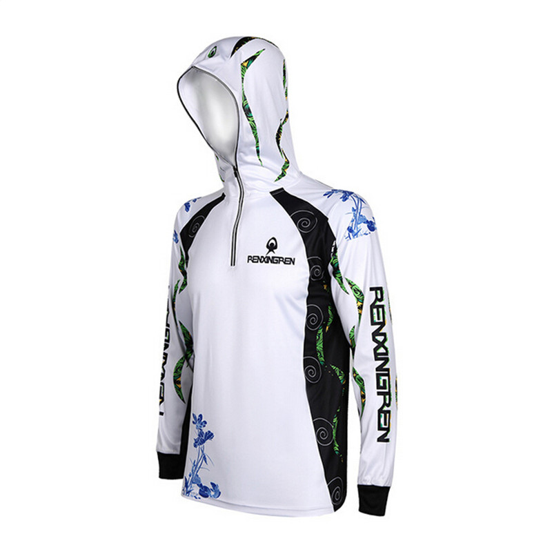 High quality Brand Fishing Clothes UV Protection breathable Quick drying Breathable Hooded Fishing Shirt Size 5XL