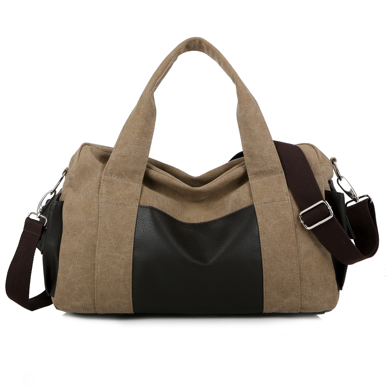 The brand of high quality mens handbags College style men and womens travel bag Contracted joker canvas bags 1030-4