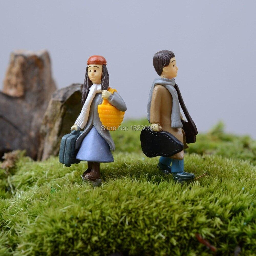 Sale 2 Pcs/lot mini People Men Women fairy garden decor crafts home ...