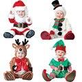 Novas Crianças Roupas Conjunto Romper Do Bebê Das Meninas Dos Meninos do Velo Macacões Inverno Macacão Animal Cosplay Formas Halloween Costume de Natal