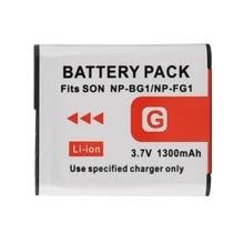 1pc High Quality 3.7V 1300mAh NP-BG1 NP-FG1 Digital Camera Battery for Sony NP-BG1 NP-FG1 DSC-H3 Battery
