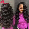 7A Malaysian Loose Wave Virgin Hair 3Bundles Soft Curly Weave Human Hair Unprocessed Malaysian Virgin Hair Loose Wave Curly Hair