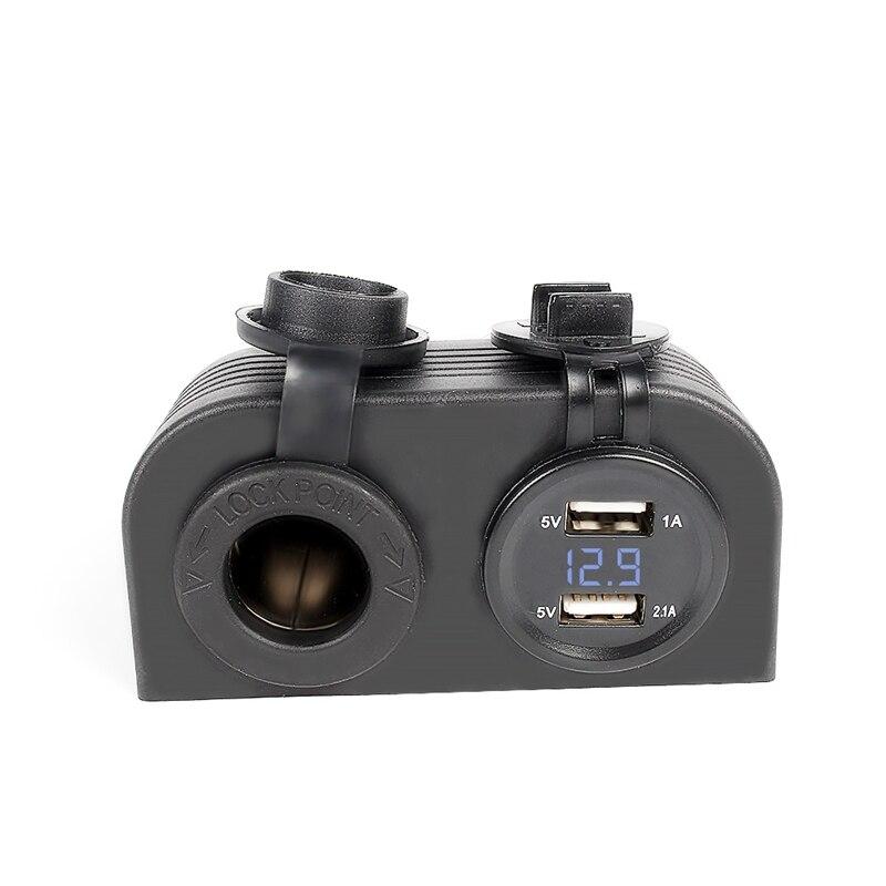 Multifuncional Impermeable 12 V 24 VLED Tabla de Monitoreo de Voltaje Encendedor