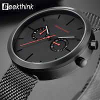 Top Brand Quartz Watches Men Black Full steel Wrist Watch Calendar Fashion Casual Relogio Masculino Modern Homme Swizerland