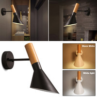 7W LED Rustic Metal Wall Mount Light Bedside Corridor Sconces Lamp Bulb