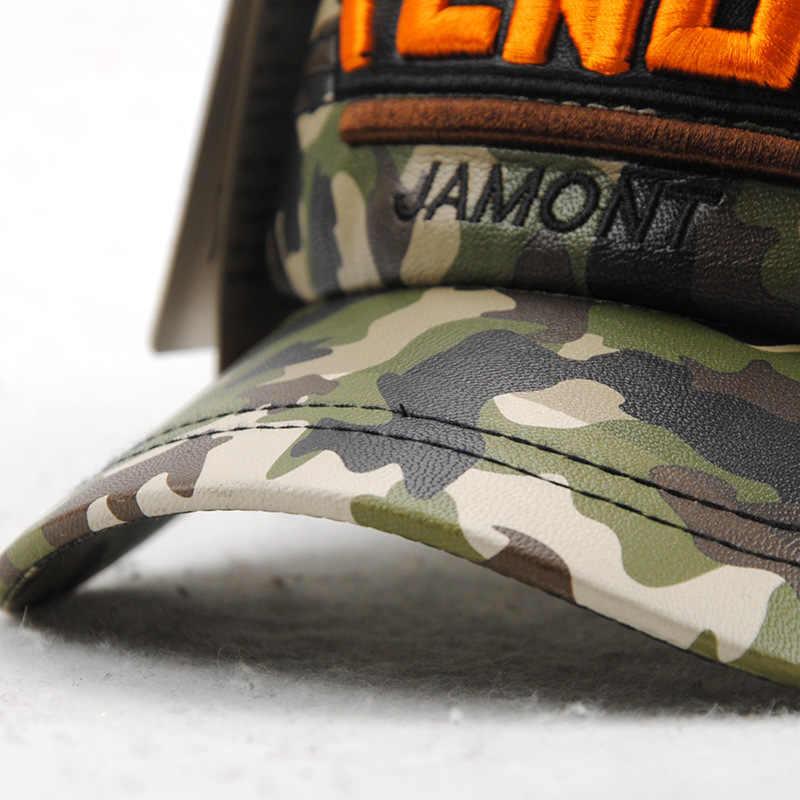 [JAMONT] Inverno Scherza il Cappello Militare Caps Ragazzi Snapback di Cuoio DELL'UNITÀ di elaborazione Camouflage Lettera Del Ricamo Dei Bambini Berretto Piatto Gorras