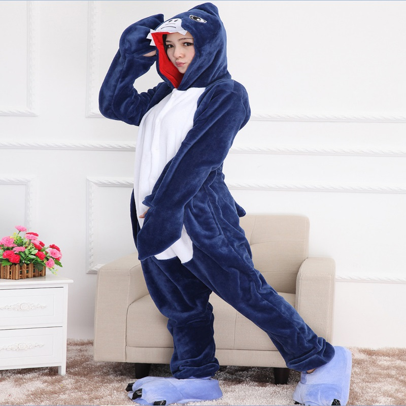 Adulte Unisexe Animal Costume Cosplay Loup Pyjama Onesie Combinaison Outfit Nuit Vetements Halloween Costume Soiree de Deguisements