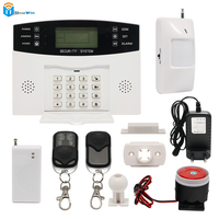 Wireless SIM GSM Home Burglar Security LCD Keyboard GSM Alarm System Sensor Kit English Spansih Russian