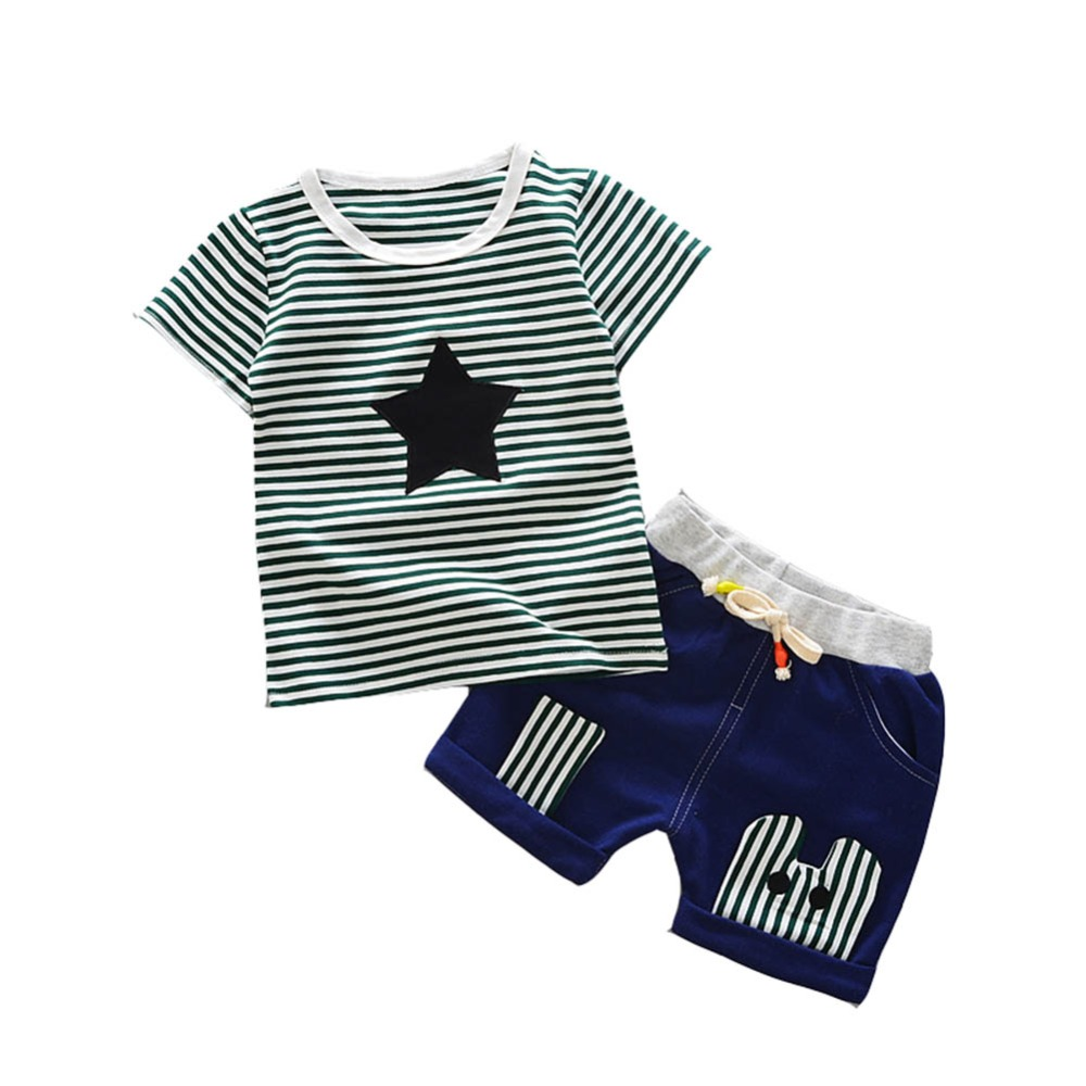 Baby Boy Clothes Children Summer Handsome Casual Pullover T-shirt + Pant 2Pcs/set Boys Fashion Summer Sets Suit for 6Months-4T baby 2017 children fashion summer baby boys clothing sets 2pcs camouflage pattern casual suit clothes sets boys set