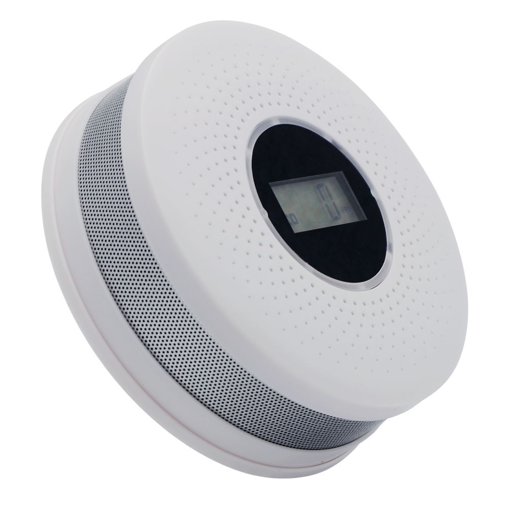 Wholesale 10PCS/LOT High Quality 2 in1 Combination Carbon Monoxide and Photoelectric Smoke Detector RH-512