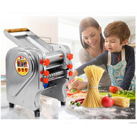 220V Multifunctional Electric Noodle Maker Machine Commercial Stainless Steel Automatic Dough Pressing Machine Household