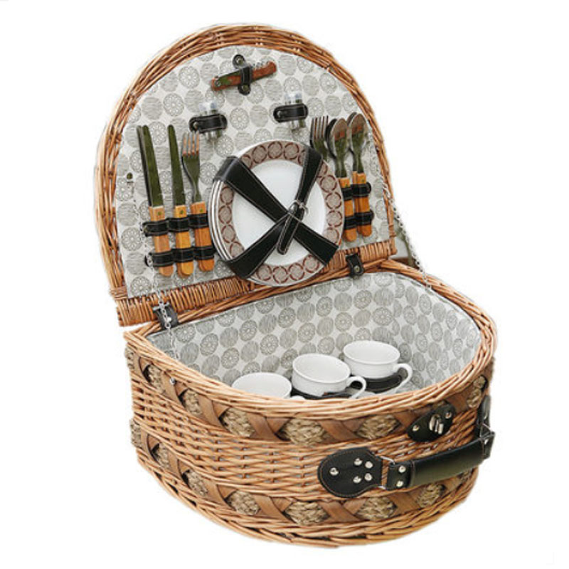 Myer Wicker Picnic Basket : Classic handmade large wicker picnic basket for family