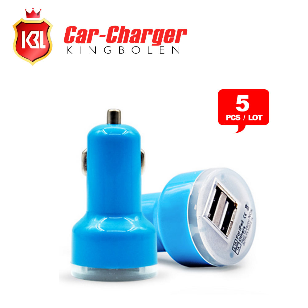 Colored usb car charger - 5pc Lot High Quality Micro Auto Universal Dual Usb Car Charger For Ipad For Iphone