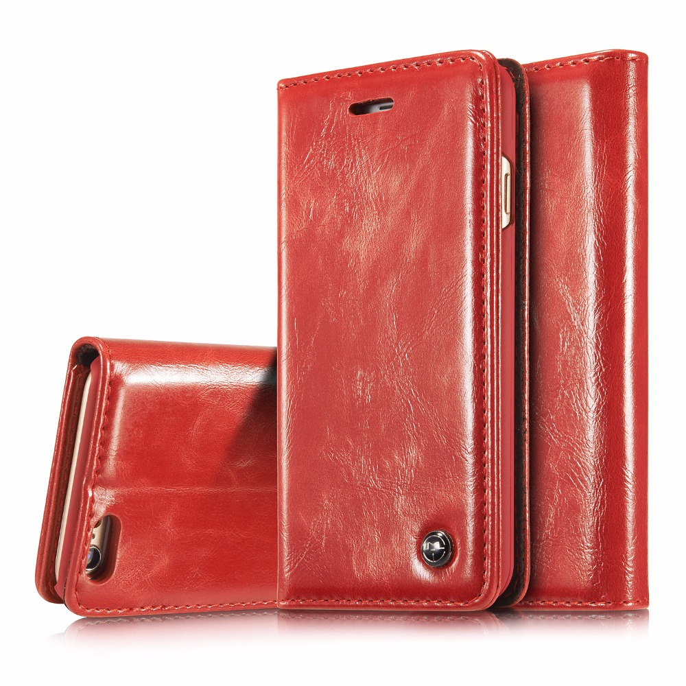 CaseMe For iPhone 6 Plus 6S Plus 5 5 quot Luxury Retro Leather Stand Flip Phone Cases Card Slot Wallet Cover Back Case in Wallet Cases from Cellphones amp Telecommunications