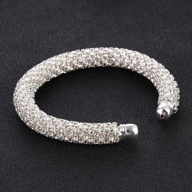LOVBEAFAS Fashion Luxury Cuff Bracelets & Bangles For Women Crystal Rhinestone Vintage Bracelets Fine Jewelry Accessories 12