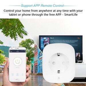 Image 2 - 2019 החדש Wifi תקע שקע שקע חשמל עבור מכשירי חשמל לבית חכם טלוויזיה תנור קפה מכונת LED אור עבודה עם חכם חיים App