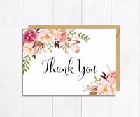 Personalized Wedding Thank You Card or Custom Baby Shower Save The Date Invitations Card Mini Table Number Place Card