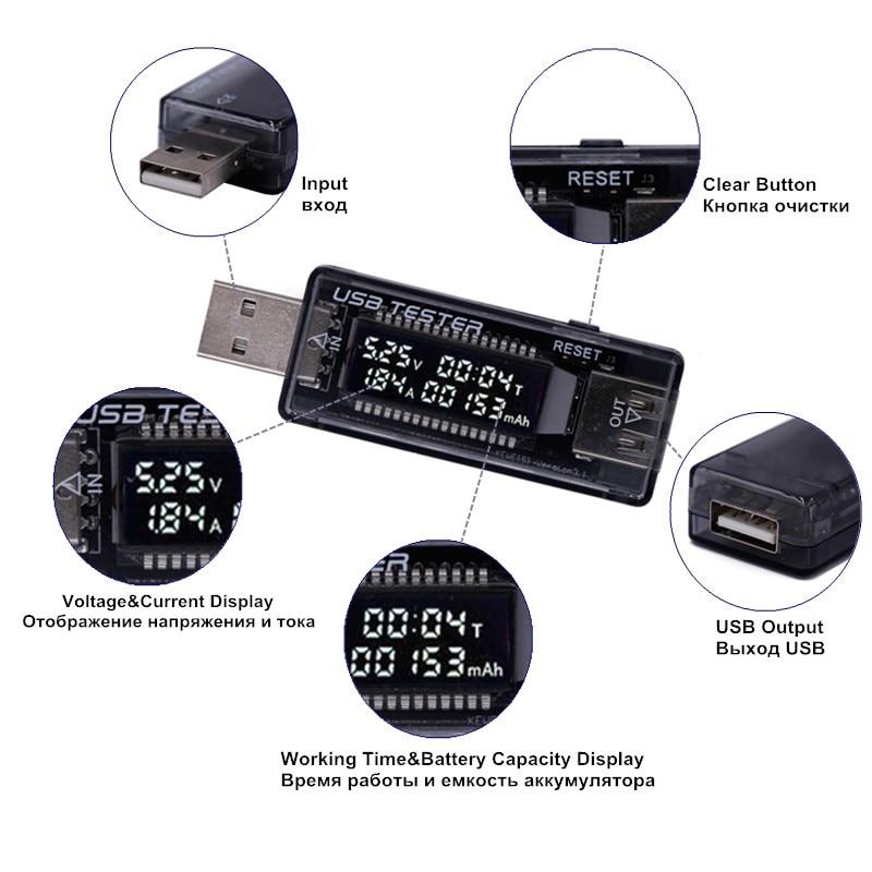 10 IN 1 USB detektoriaus voltmetras Ampermetras USB testeris Įtampos - Matavimo prietaisai - Nuotrauka 5