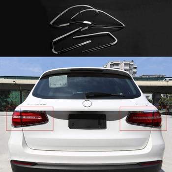 4x Rear Tail Light Lamp Chrome Cover Trim For Mercedes-Benz GLC Class X205 16-17