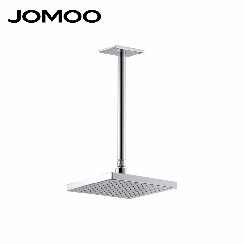 JOMOO rain shower head 9 inch bathroom shower head with arm ceiling water saving pressure bath shower 12 inch shower head with arm 300 300 stainless steel head shower with ceiling shower arm top water saving rain shower