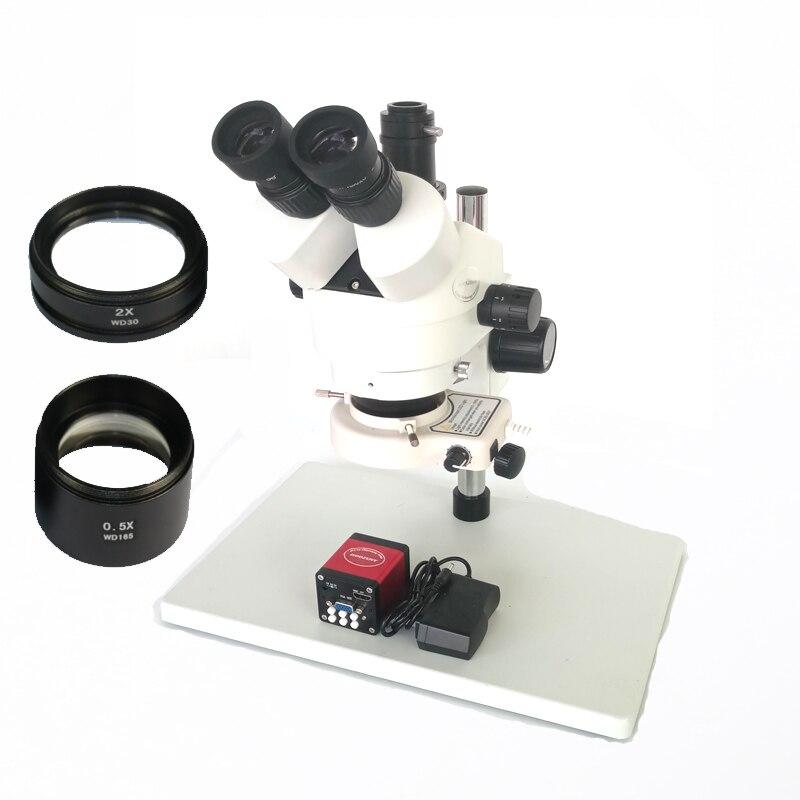 7X-45X or 3.5X-90X Continue binocular zoom Trinocular stereo microscope 13MP HDMI VGA output digital video microscope camera continuous zoom binocular visual 7x 90x trinocular stereo microscope digital microscope camera vga cvbs usb av tv outputs