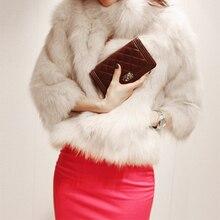 New Vestidos Winter Warm Korean Fashion Luxury Quality Overcoats Women's faux Fur Coatsjacket Outerwear