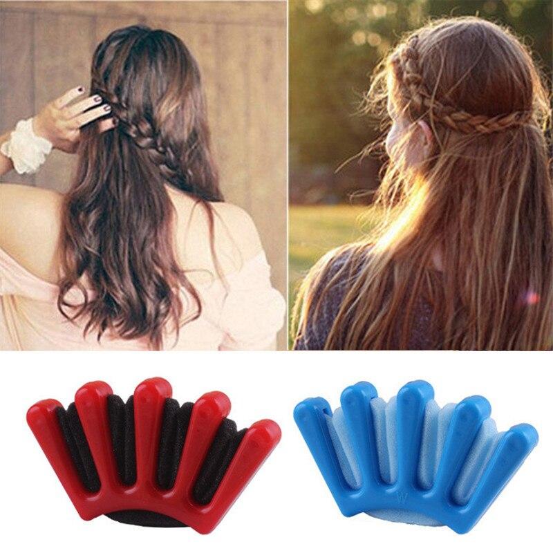 2 Colors Lady French Hair Braiding Tool Weave Sponge Plait Hair