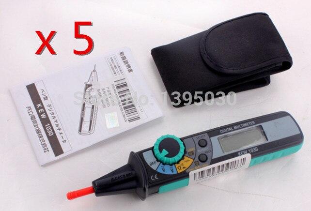 ФОТО 5PCS/Lot New KEW 1030 LCD Digital Compact Pen Type Multimeter DMM LCD Backlight Display With English Manual