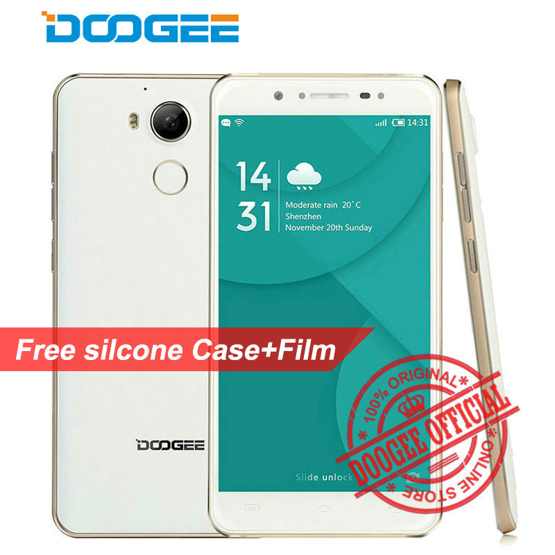 DOOGEE F7 4G Fingerprint Helio X20 Deca Core MTK6797 64-bit Smartphone 5.5 FHD Android 6.0 Cellphone 3GB+32GB 13MP Mobile Phone