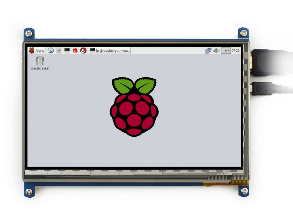 7 Inch Raspberry Pi 3 Touch Screen 1024*600 7 Inch Capacitive Touch Screen LCD, HDMI Interface, Supports Various Systems