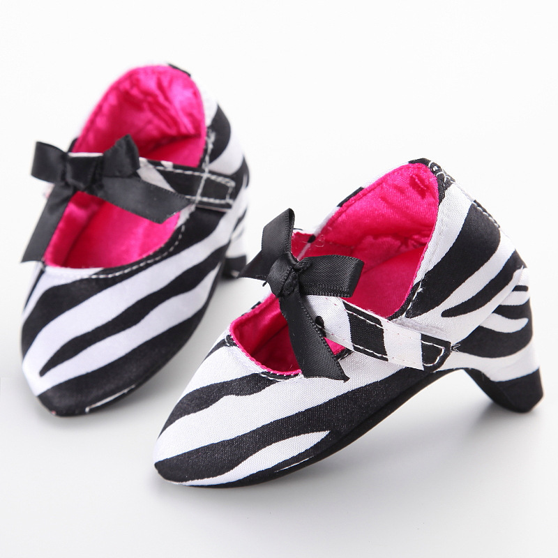 Baby Girls Leopard Pumps Shoes Cute  Kids Soft Bottom Children Baby Heels Newborn Show Props  Baby Casual Shoes